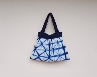 shibori hand dye bag, shoulder Bag, tie dye shibori, tota bag