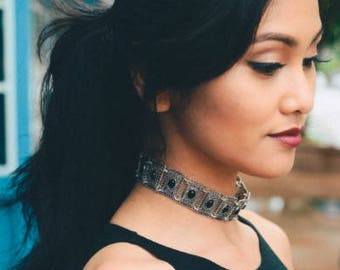 Rectangle Vintage Chain Choker