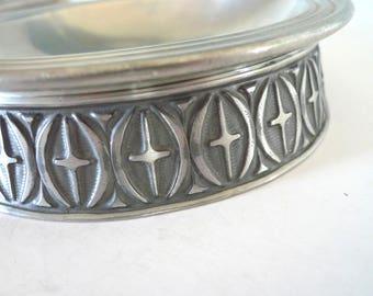 Haugrud Pewter of Norway Bowl Viking style Mid Century Vintage Modern Nordic