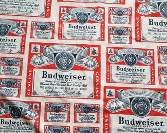 Vintage Budweiser Double/Full Flat Sheet Set with Pillowcases