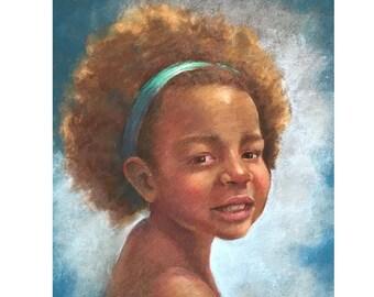 11x14 Custom pastel portrait
