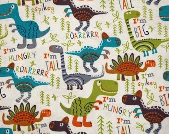 Pre-Order, Dinosaurs, Flannel, Cloth Diaper Wetbag, Diaper Pail Liner, Diaper Bag, Day Care Size, Bag with Handle