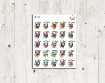 Cleaning Bucket Planner Stickers - ECLP Stickers