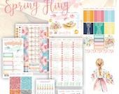 Spring Fling Planner Sticker Set, Bible Journaling Stickers, Faith Dori Stickers, Travelers Notebook