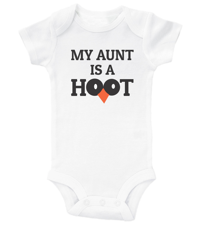 My Aunt Is A Hoot Cute Owl Bodysuit for Kids Cute Newborn