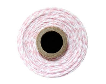Light Pink and White Bakers Twine - Blossom Twist - 240 Yard Spool