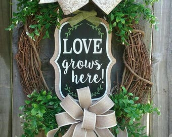 Summer wreath, Boxwood wreath, Floral Grapevine wreath, Summer Grapevine wreath, Wedding wreath, Summer decor, boxwood decor wreaths, wreath