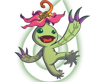 Digimon Digital Monsters - Palmon 'Crest of Sincerity' Digital FanArt Print, Original Print, Original Art Print, Digital Art Print