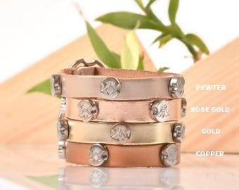 Silver Studded Bracelets, Metallic Bracelets