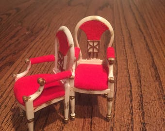 Vintage 1964 Ideal Petite Princess - Host Dining Chairs 4413-1