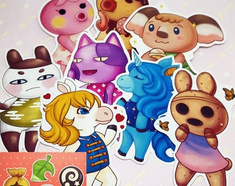 Animal Crossing Villager and Items Stickers