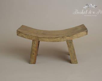 Sitter Wooden Bench-Newborn Photography Prop-Natural Wood. Newborn Photo Prop Bench, Bench for Photography Prop