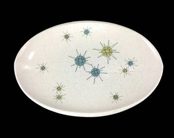 Vintage Franciscan Starburst Serving Platter * Atomic Age Dinnerware * Mid Century Dishes