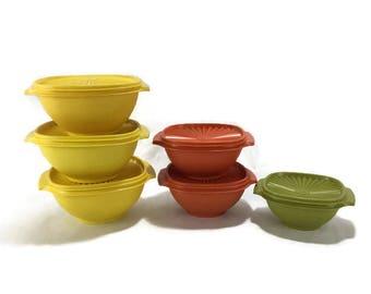 Vintage Tupperware Servalier Bowl with Lid