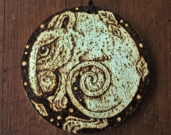 Mouse-An original Wood Burning picture, decoration