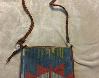 Vintage Kilim Purse/Kilim Shoulder Bag/ Kilim Bag/ Cross Body Purse/ Boho Purse/ Carpet Bag