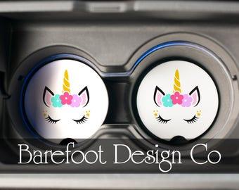 Unicorn Custom Sandstone Car Coaster