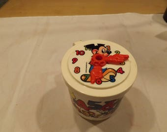 Rare Mickey Mouse Super Seal Cup Clock
