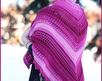 DIGITAL DOWNLOAD: PDF Crochet Pattern for the Wrapped in Jewels Shawl