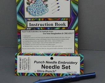 Ultra - Punch: Punch Needle Embroidery Needle Set with Three Needles