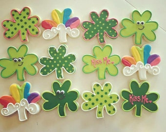 Saint Patrick's Day clover cookies