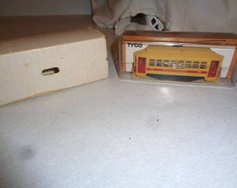 HO scale boxed electric train trolley by  Tyco never by used