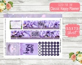 KT19 Midnight Serenade - Choose Any Month - CLASSIC Happy Planner - May Monthly Kit - Date Cover Sticker - Month View Sticker  Monthly
