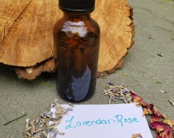 Homemade Organic Infused Lavender Oil