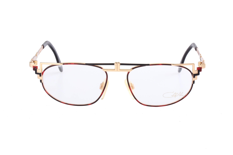 231033d722 Cazal mod. 247 NOS übercool steampunk golden black   red eyeglasses frames