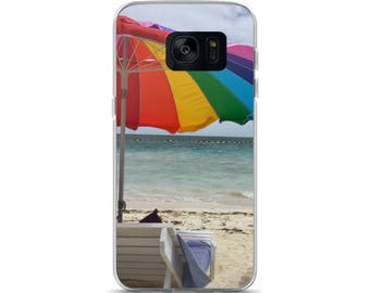 Nice Looking Rainbow Beach Umbrella Samsung Case