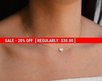SALE 20% OFF Heart necklace,gold heart charm,valentines gift,heart Jewelry,minimalist necklace,gold necklace,heart shape jewelry 10042