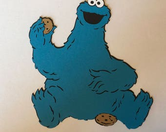 1- Cookie Monster Holding A Cookie Cricut DIe Cuts