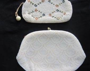 Two Vintage Beaded Evening Bags  Le Regale Evening Bag with Italian Beads