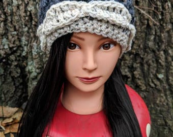 Stone and Snow Leafy Slouch Cap