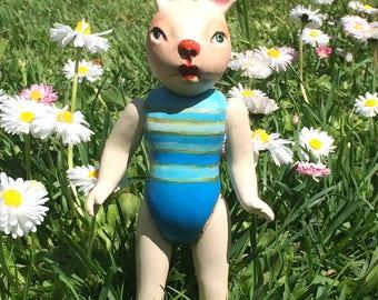 "Art doll, souvenir "" Swimming season opened"""