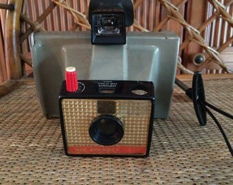 Polaroid Land Camera Big Swinger 3000, 1970s vintage camera, bookshelf decor, vintage decorating