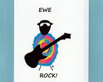 Greeting Card / Ewe Rock