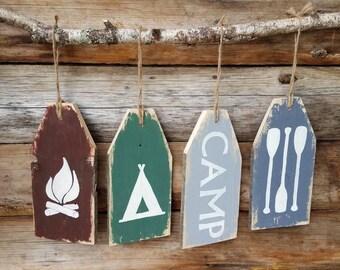 Camp tags, camping tags, camping signs