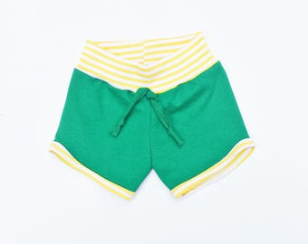 Kelly Green Retro Children's Shorts