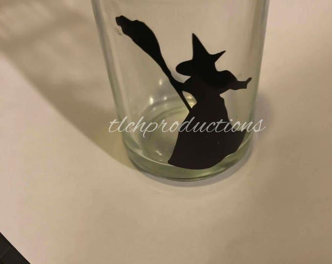 Broadway Silhouette Glass Votive Tea Light Candle Holder
