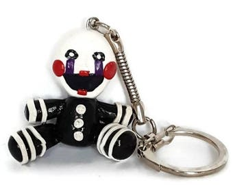 FNAF Puppet, The Marionette, Puppet Plush, Marionette Plush, Mobile Game, Video Game Keychain
