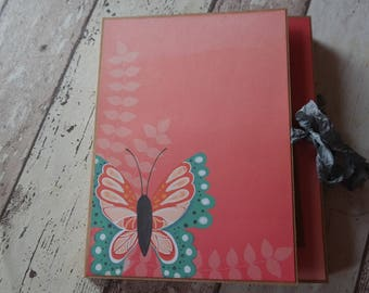 Mini album to the fold, 'Butterfly' size 17.5 x 21 cm