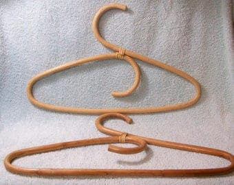 Vintage Rattan Hangers - Set Of 2