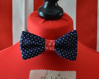 Papillon Sailor Love-dots blue base with Anchors
