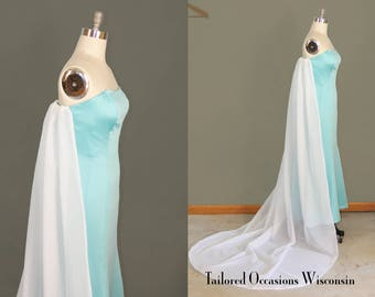 CLEARANCE Size 12 Frozen Elsa Gown Women's Adult Elegant Bust 38.5"