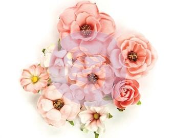 Prima Rose Quartz Flowers / Rosa Verona 595050 / Prima Flowers / Fake Flowers / Scrapbooking / Card Making / Shabby Chic Flowers / Summer