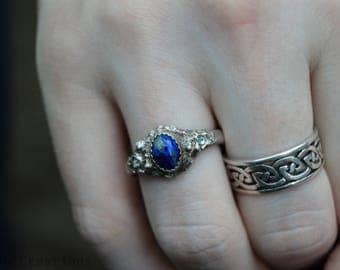 Poseidon's Fury - Men's Sterling Silver Fashion Ring