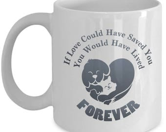 Pet Love Forever Paw Bereavement Gift Mug Cat Dog Animal Lover Coffee Cup
