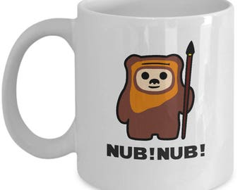 Star Wars Ewok Nub! Nub! Gift Mug Endor Funny Return of Jedi Coffee Cup