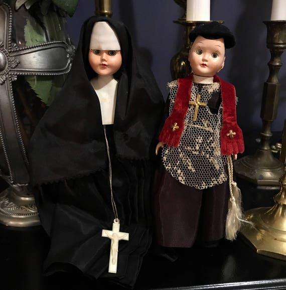 Vintage Nun and Priest Dolls